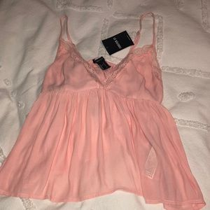 pink lacey tank
